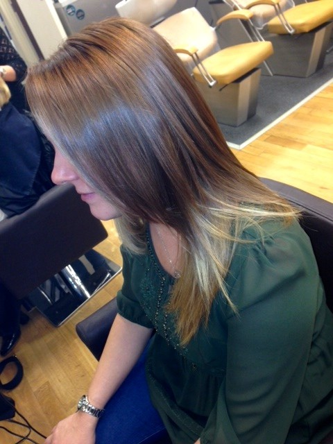 Our colouring ensures you can have shiny hair too