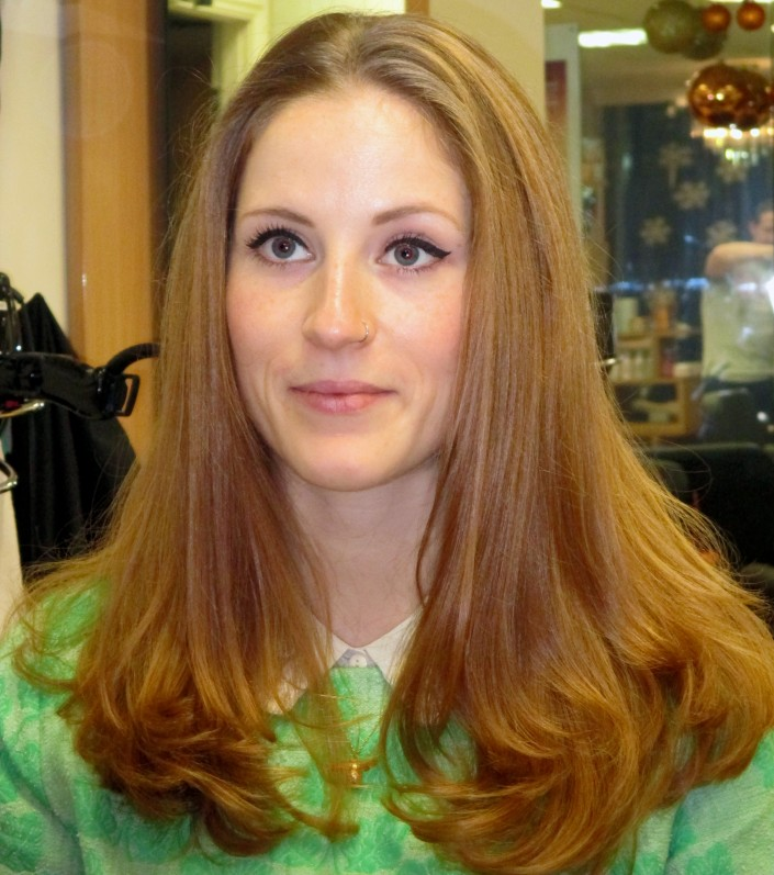 Our hair salon works with all types of hair, thick, thin, curly or long